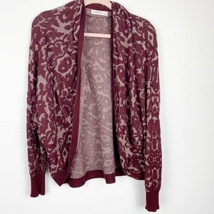 Abercrombie & Fitch Maroon Batwing Cardigan Medium